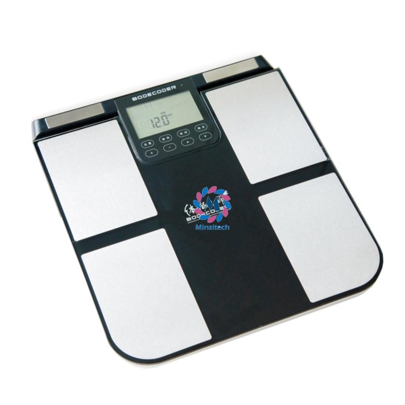 цена на Bodecoder Digital Fitness Express BIA Body Fat Monitor Fat Analyzer Body Health White Home Using Analysis Report