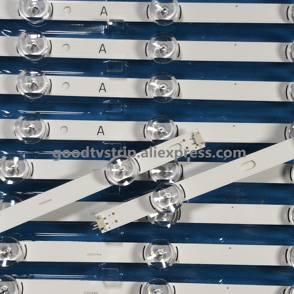 100 NEW 0riginal 10 PCS 5 A 5 B LED backlgith strip for 49LB5500 LC490DUE Innotek