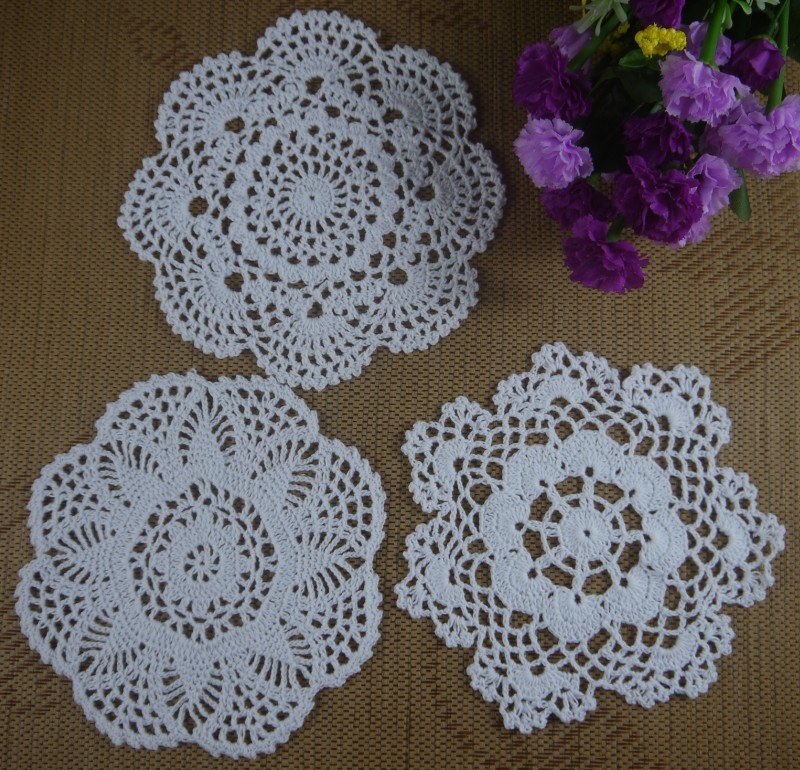 Handmade Crocheted Doilies Matpad Ornament 820cm Shabby Chic