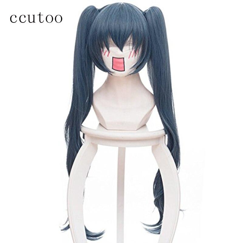 Ccutoo парик 75 см Токио вурдалак Сайко Yonebayashi Косплэй парики Длинные Голубые вьющиеся синтетический Perucas костюм парик