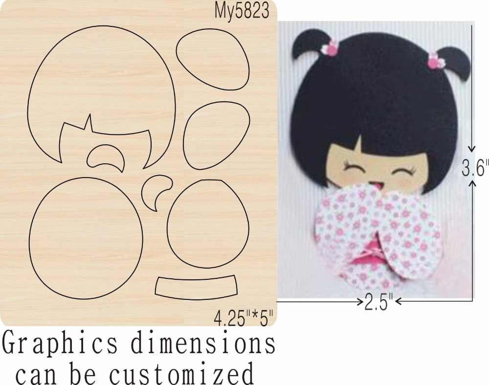 girl-3 new wooden mould cutting dies for scrapbooking Thickness-15.8mm
