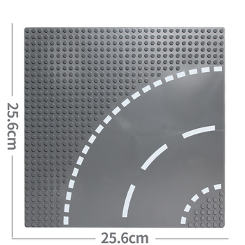 Classic City Road Street Baseplate Block Straight Crossroad Curve T-Junction DIY Assembly Building Blocks Parts Base Plate Gift 6