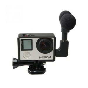 Image 5 - Mini Microphone stéréo pour Gopro Hero 4 3 accessoires monture de boîtier de protection pour caméra daction Go Pro 3.5Mm pas de bruit micro