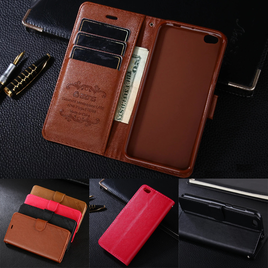 AZNS Case For Xiaomi Mi 5C 5.15 Wallet Leather Case Stand Flip Card Hold Phone Cover Bags For Xiaomi Mi5C