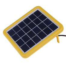 6V 2W Wired Polycrystalline Silicon Solar Panel Sun Power Charger System Solar Cell Board With 3m Power Cable For Lighting Lamp