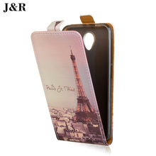 J&R for Vodafone Smart Prime 7 Case PU Leather Painting phone Cover for Vodafone VFD600 Smart Prime 7 Flip Cover Phone bag