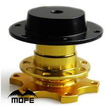 Mofe Gold Universal Quick Release Snap Off Hub Adapter fits Car Sport Steering Wheel For Honda Civic