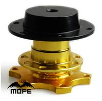 Mofe Gold Universal Quick Release Snap Off Hub Adapter Fits Car Sport Steering Wheel For Honda