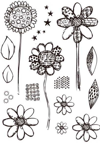 Lianshangmei Flower Clear Stamp For Scrapbooking Rubber