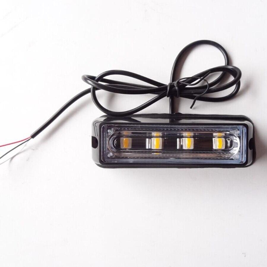 4 Led lichtleiste Leuchtfeuer Fahrzeug Grill Strobe Licht Notfall ...