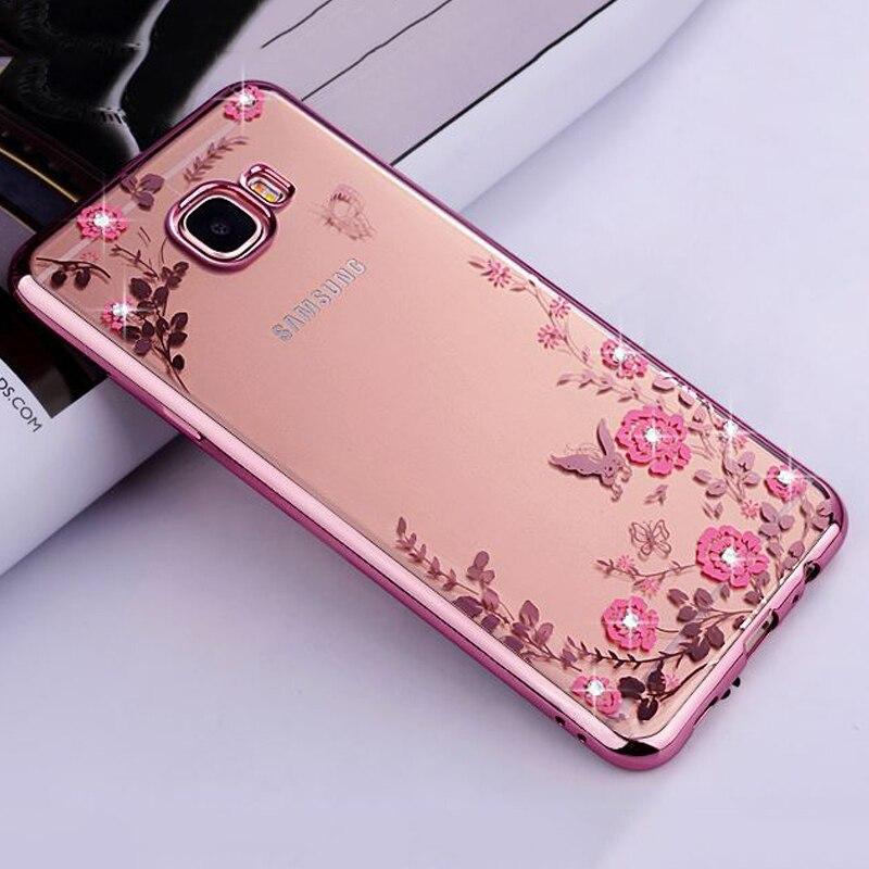 buy for samsung a5 2017 case flowers crystal rose gold plating phone back cases. Black Bedroom Furniture Sets. Home Design Ideas