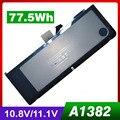 "77.5WH батареи ноутбука для Apple A1382 A1286 2009 Версия для MacBook Pro 15 ""Серии MC721 MC723 MB985 MB986"
