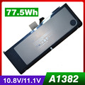 "Batería del ordenador portátil para Apple A1286 A1382 77.5WH Versión 2009 para MacBook Pro 15 ""Serie MC721 MC723 MB985 MB986"