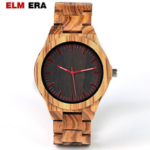 GNART Men Wood Watch Quartz Fashion Handmade Wooden Wrist Watches Mens Relojes Para Caballero Relogio Masculino
