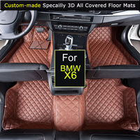 Specially for BMW X6 Car Floor mats Car styling Foot Rugs Carpets 3D All covered Waterproof Black Brown Beige