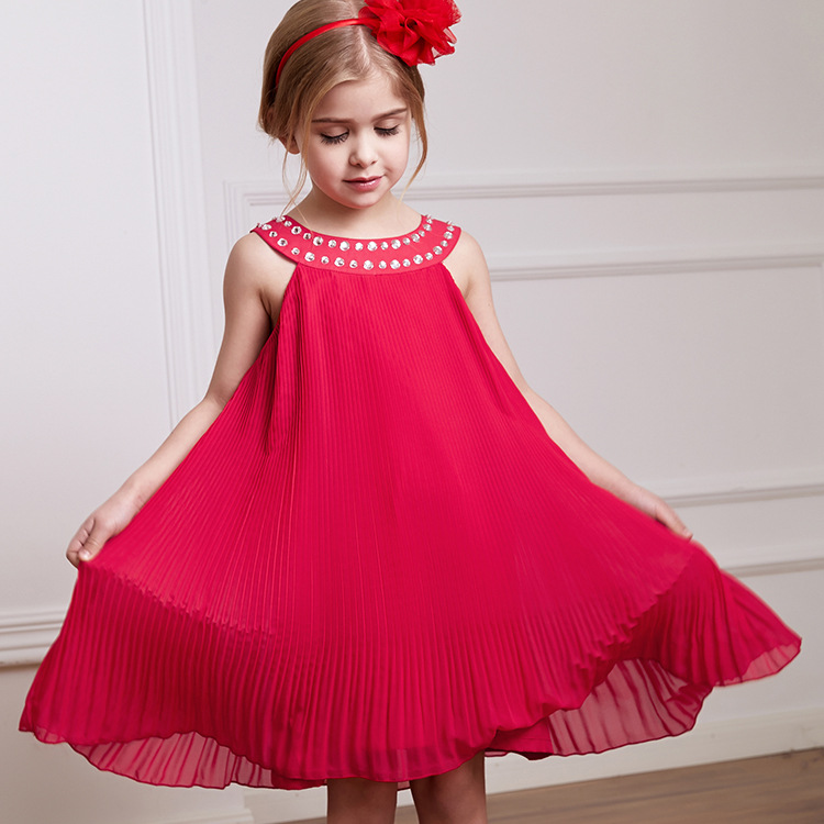 7c49238da28 2019 Summer Flower Girls Wedding Party Dresse Kids Red Princess Dresses  Baby Girl Noble Beaded Evening Dress Children Clothes-in Dresses from  Mother   Kids ...