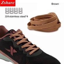 купить 1pair Flat No Tie ShoeLaces Elastic Rubber ShoeLace For Women And Men Sneaker Children Safe Elastic Lazy Shoe laces 16 Colors дешево