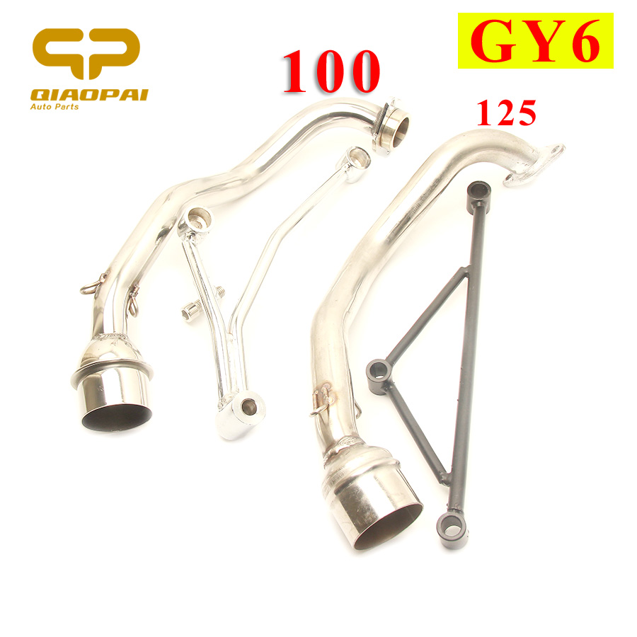 Motorcycle Exhaust Muffler Header Mounting Bracket Scooter Escape Moto Fixed Mount System For Yamaha 100cc GY6