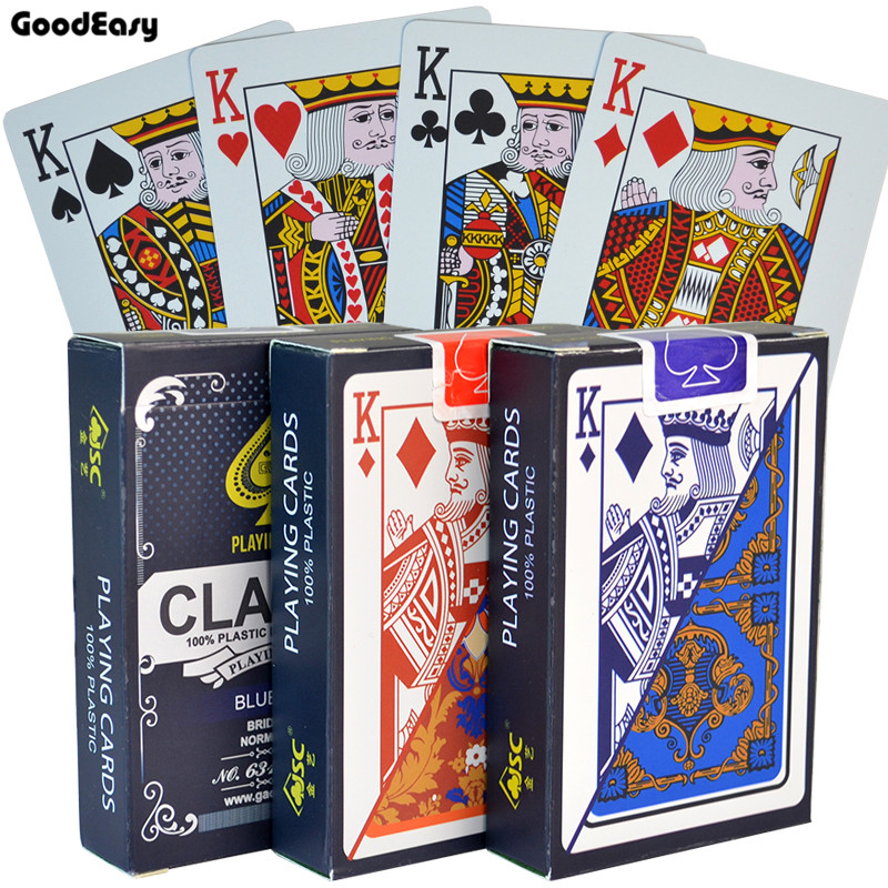 100% PVC Plastic Cards Waterproof Playing Cards Texas Hold'em Black Jack Plastic Game Card Poker Game Board Game 58*88mm Cards(China)