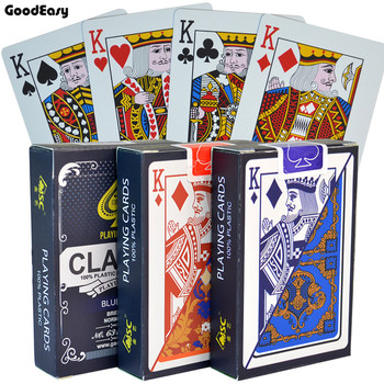 100% PVC Plastic Cards Waterproof Playing Cards Texas Hold'em Black Jack Plastic Game Card Poker Game Board Game 58*88mm Cards недорого