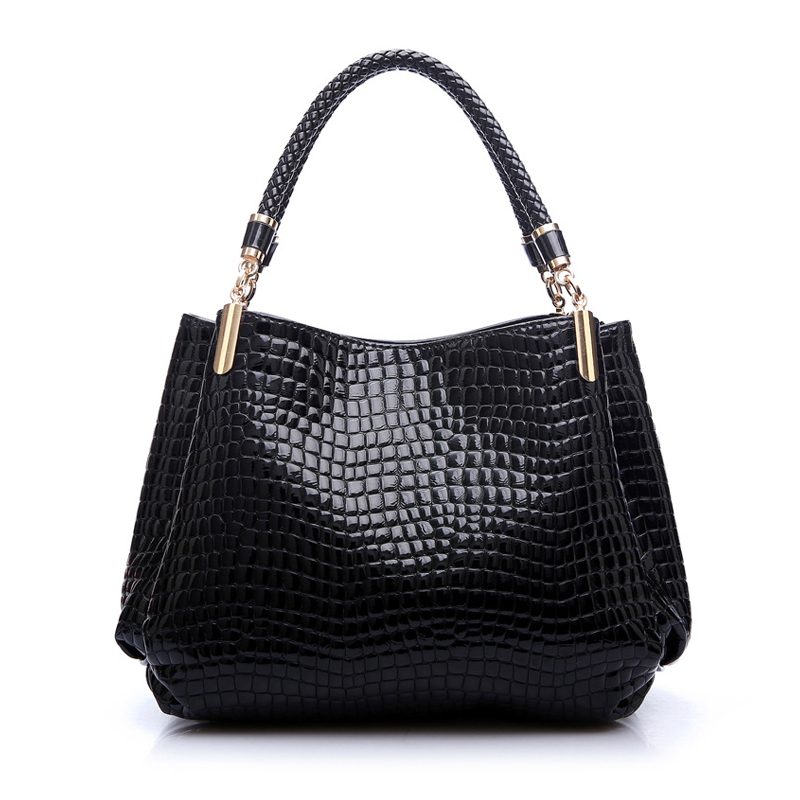 2017 Alligator Leather Women Handbag Bolsas De Couro Fashion Famous Brands Shoulder Bag Black Bag Ladies Bolsas Femininas Sac 11cls bolsas fashion 100