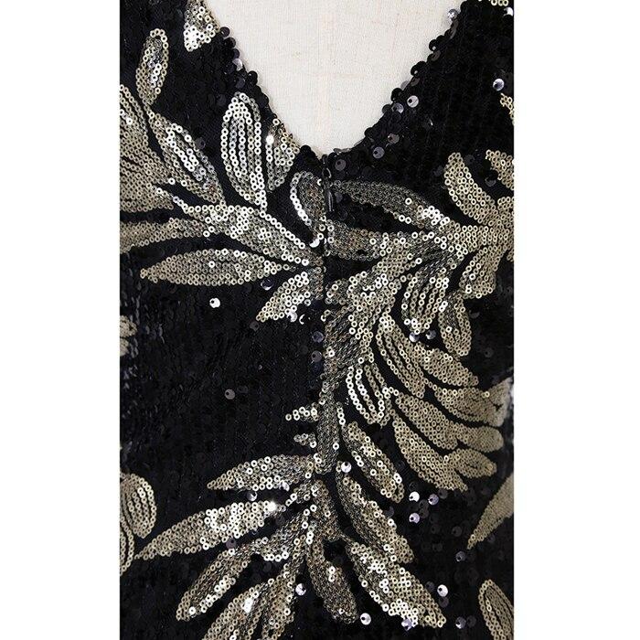 Great Gatsby Flapper Dress Sequins 17