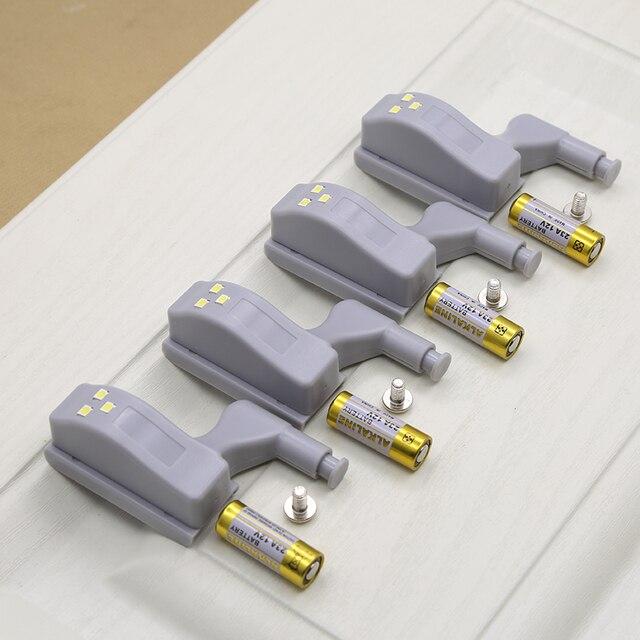 캐비닛 힌지 led 센서 라이트 자동 스위치 옷장 내부 힌지 램프 야간 조명 침실 옷장 주방 찬장