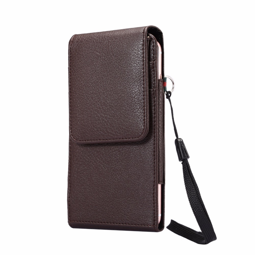 New Universal 6.0 inch Below Holster Bag Wallet Phone Case For iPhone 4 4s 5 5s 5c SE 6 6S 7 8 Plus X Cover With