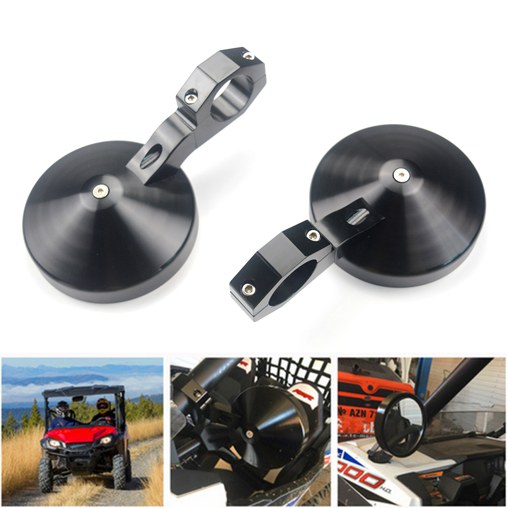 Adjustable 1.75 Heavy Duty Round Sport Mirror Clamp Side View Mirror for Polaris RZR 900 1000 Ranger for Yamaha Rhino Pioneer adjustable 2 heavy duty round sport mirror for polaris rzr 900 570 800 1000 ranger xp 4 for john deere gator hpx xuv