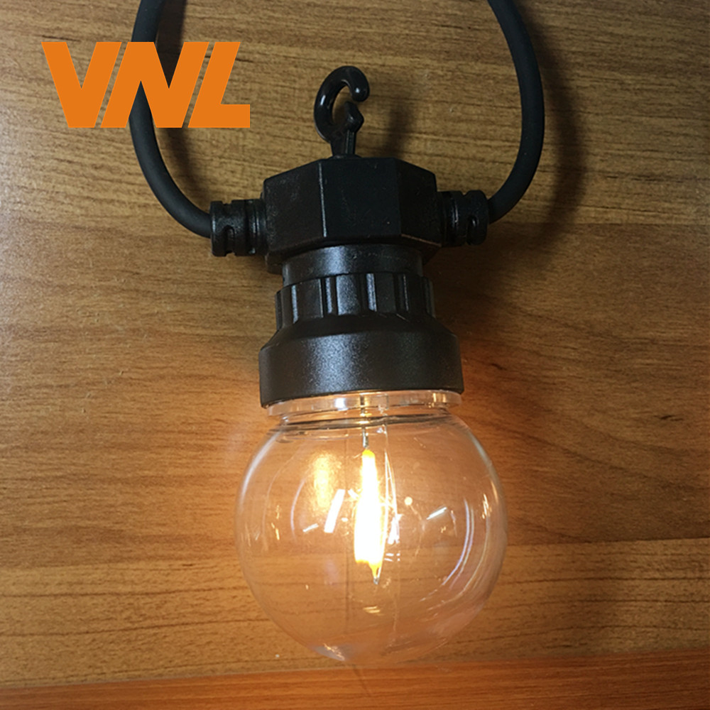 VNL IP65 G50 Clear LED Globe Fastoon String Lights Filament Lamp Outdoor Light String For Garden