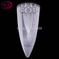 Free Shipping Luxury Modern Crystal Chandelier Flush Mount LED Crystal Light For Lobby Large Lustres De