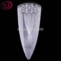 Free Shipping Luxury Modern Crystal Chandelier Flush Mount LED Crystal Light For Lobby Large Lustres De