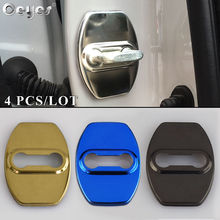цена на Ceyes Car Styling Door Lock Protect Covers Case For Lexus ES IS GS LS NX LX GX RX LF-A RC Stainless Steel Auto Accessories 4pcs