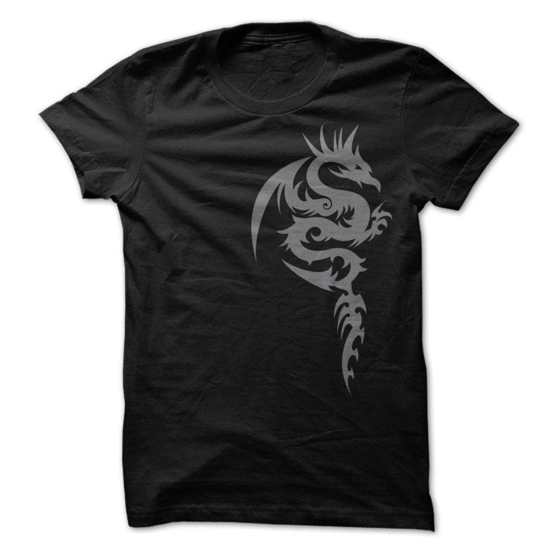 Design t shirt china - Gildan Printed Men T Shirt Short Sleeve Funny Tee Shirts Men S Tribal Dragon Design T