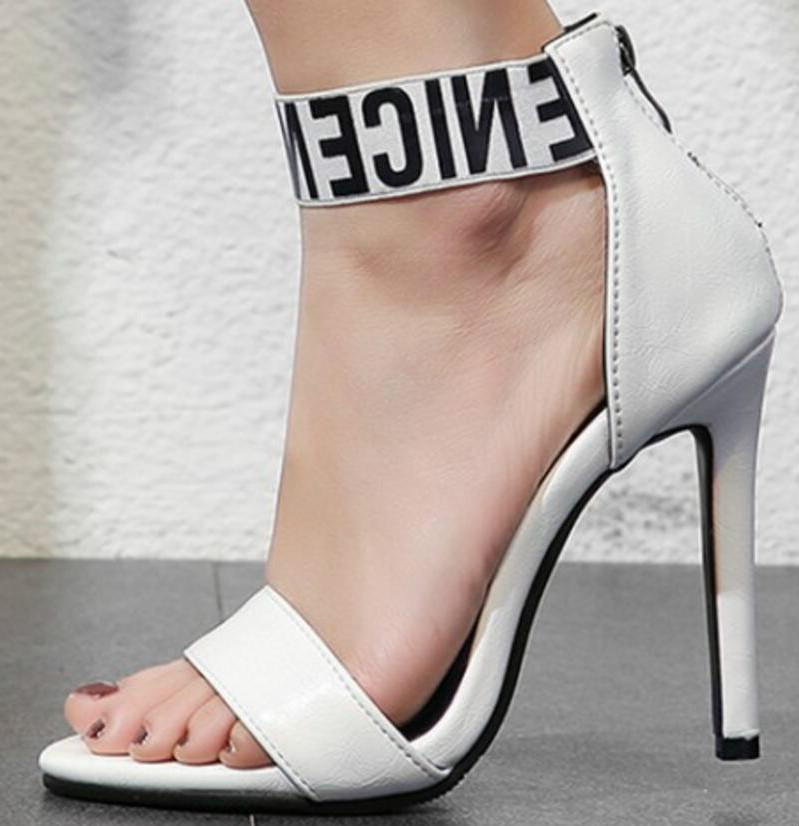 58a993969081 women summer sandals thin high heels pumps bride wedding sexy shoes woman  open toe zapatos mujer
