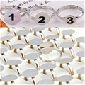 120pcs Wholesale Lots Silver Plated Adjustable Rings Bases Blanks Jewelry Finding Pads Ring Settings
