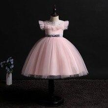 Vestido de tutú de cumpleaños para niñas pequeñas, ropa de fiesta de princesa, para boda, vacaciones, ceremonia, novedad de 2019