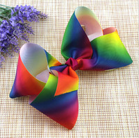 2017 Newest Bowknot Hair Clips Barrettes Girls Cute Hairpins 7.5cm Colorful Headbands For Women Girls Kids Hairgrips 12/lot MX73