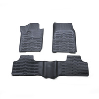 3PCs Set Car Floor Foot Pad Front Rear Liner Waterproof Mat Floor Mats Car Styling Carpet