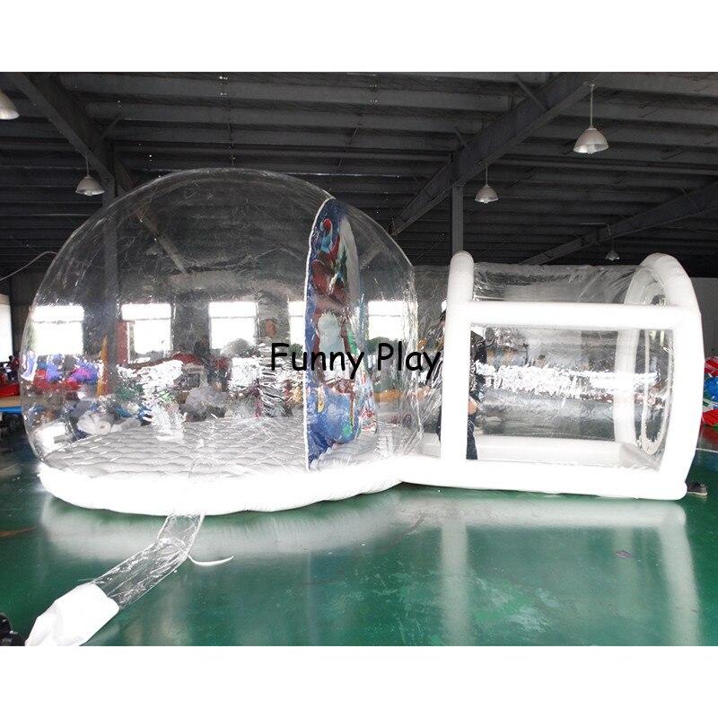 Индивидуальные сделать надувной снежный шар пузырьковый шар для продажи, прозрачный надувной Снежок с туннелем для Рождества