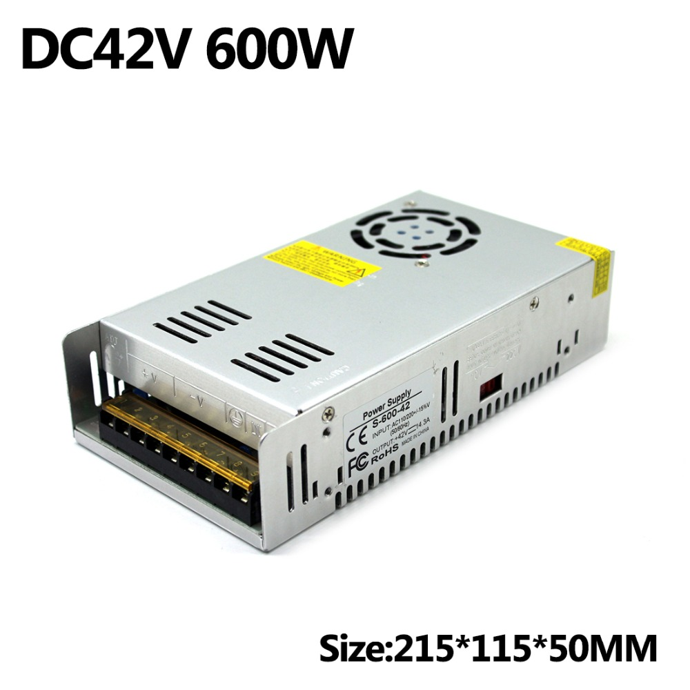 Switching Power Supply DC42V 600W use for CNC Router Engraving Machine Led Light 3D Printer