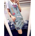 2017 New Summer Sleeveless Tanks Blue Jeans Dress Women's All-Match Loose Casul Denim Dresses Plus Size S/M/L/XL