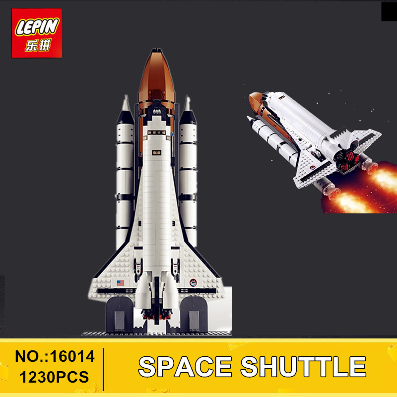 2017 New LEPIN 16014 1230Pcs Space Shuttle Expedition Model Building Kits Set Blocks Bricks Compatible Children Toy 10231 lepin 16014 1230pcs space shuttle expedition model building kits set blocks bricks compatible with lego gift kid children toy
