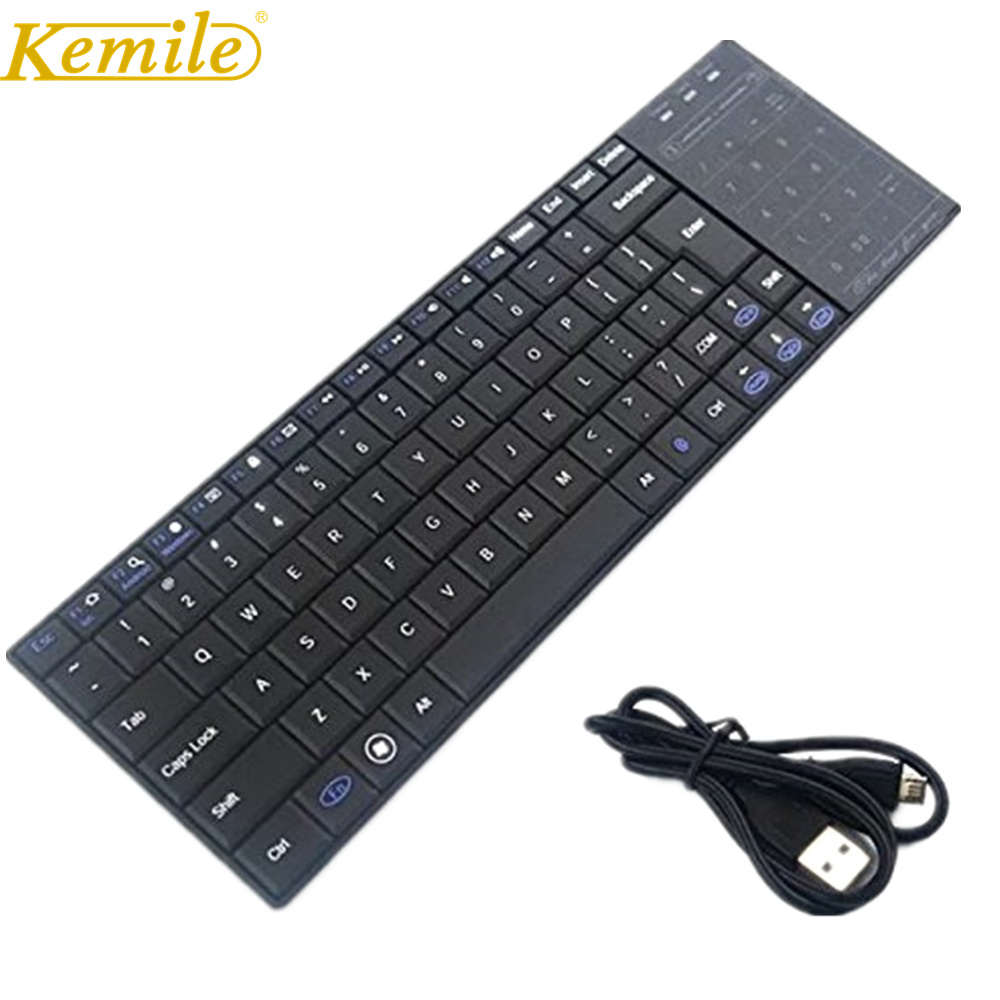 Bluetooth Keyboard with Touchpad Ultra Slim Mini Wireless Keyboard TouchPad Mouse for iOS Windows Android with Dual Function
