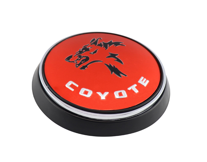 Red Black Coyote for Mustang Rear Deck Decklid Trunk Cap Badge Emblem
