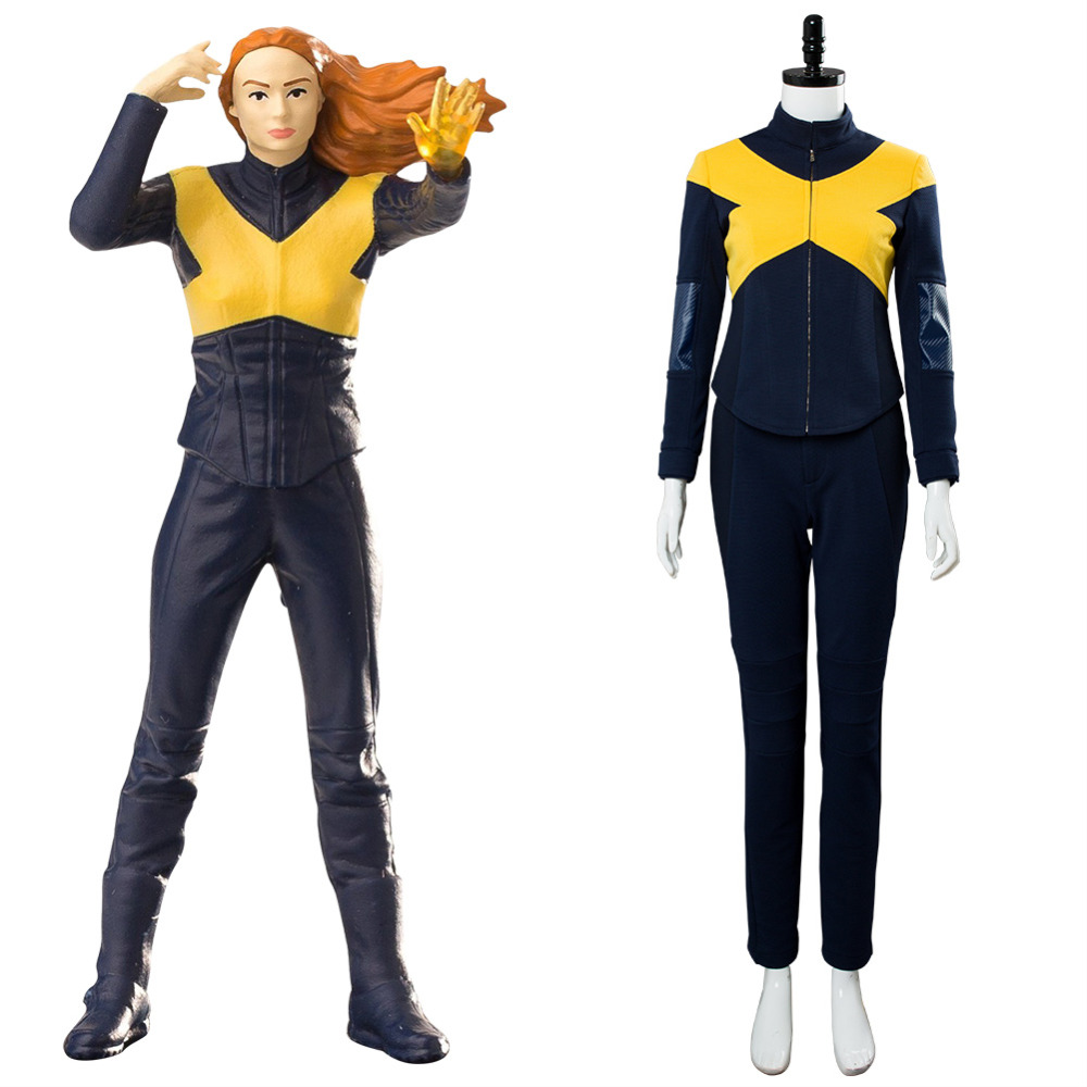 2019 X-Men Dark Phoenix Cosplay Jean Grey Costume Nightcrawler Magneto Superhero Costume for Adult Women Halloween Carnival