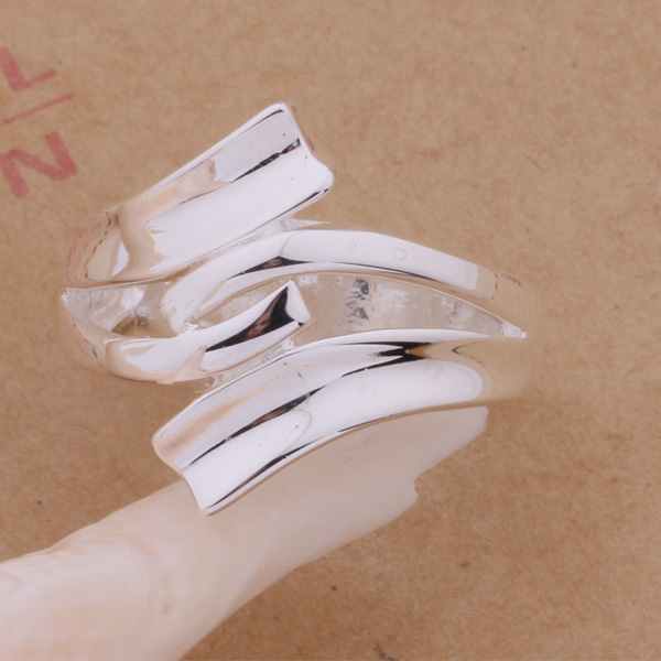 AR225 Hot Selling silver plated finger Rings for women men silver - Mote smykker - Bilde 5