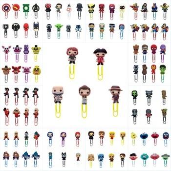 8pcs/lot Avenger Star Wars Bookmarks for Books Cartoon Paper Clips for School Teacher Office Supply DIY Page Holder Kids Gift 1