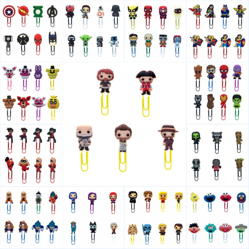 8pcs/lot Avenger Star Wars Bookmarks For Books Cartoon Paper Clips For School Teacher Office Supply DIY Page Holder Kids Gift