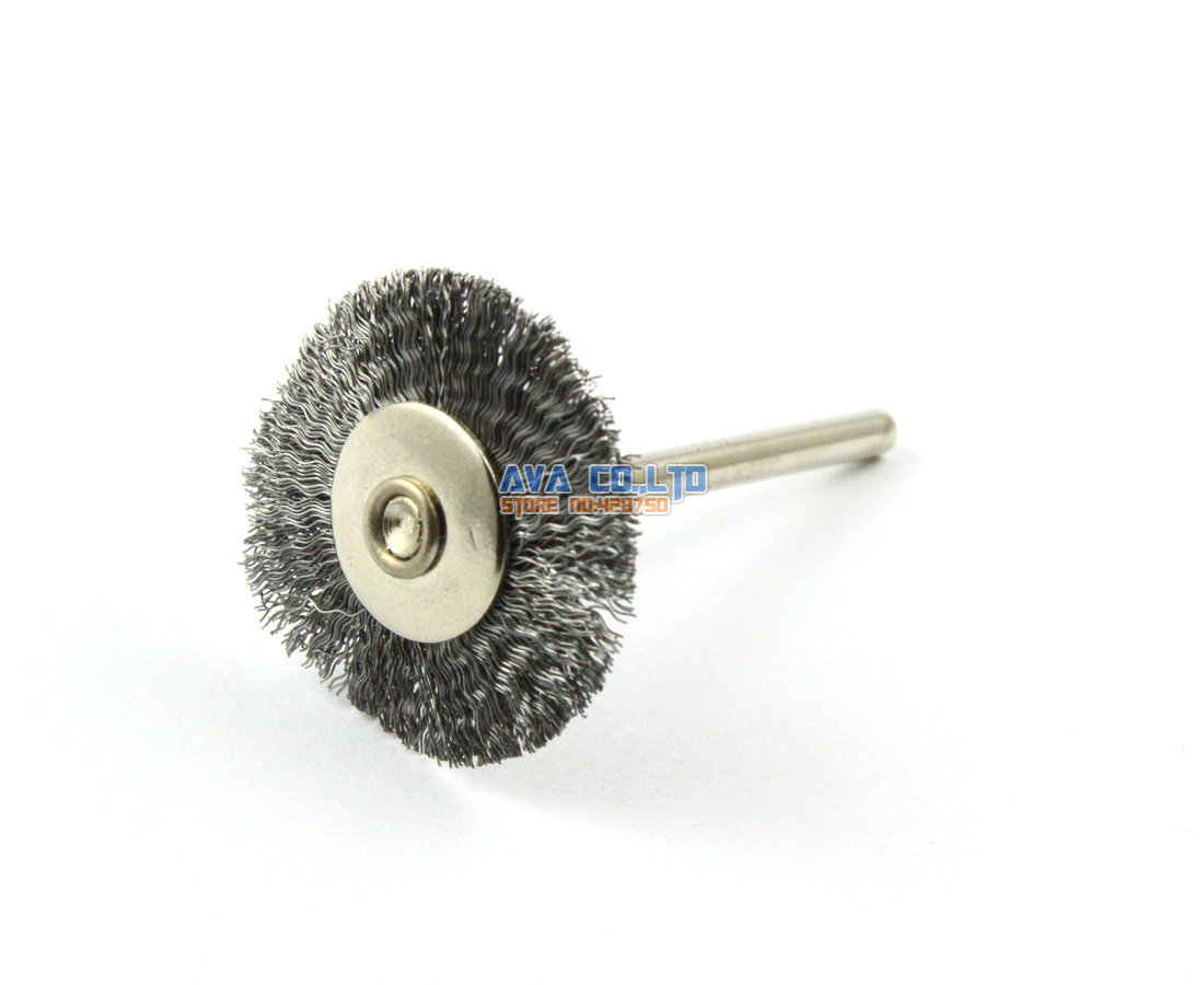 20 Pieces 25mm Stainless Steel Wire Brush Wheel for Cleaning Rust Removal